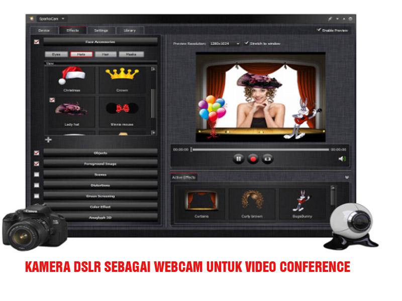 Menggunakan Kamera DSLR sebagai Webcam untuk Video Conference